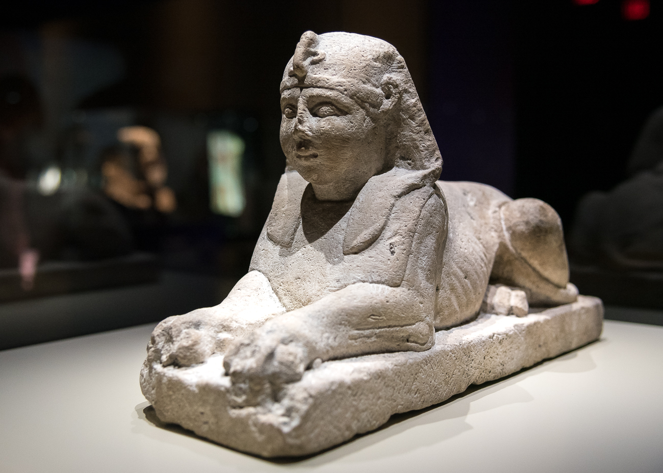 A limestone sphinx statue dating back sometime between 3rd century to the 1st century BC / Image: Phil Armstrong, Cincinnati Refined // Published: 2.15.19