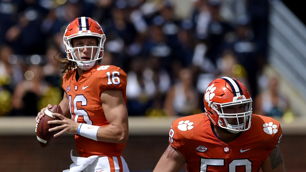 new concept a9ad6 f0c8e Trevor Lawrence to play for Clemson vs. Wake Forest | WCIV