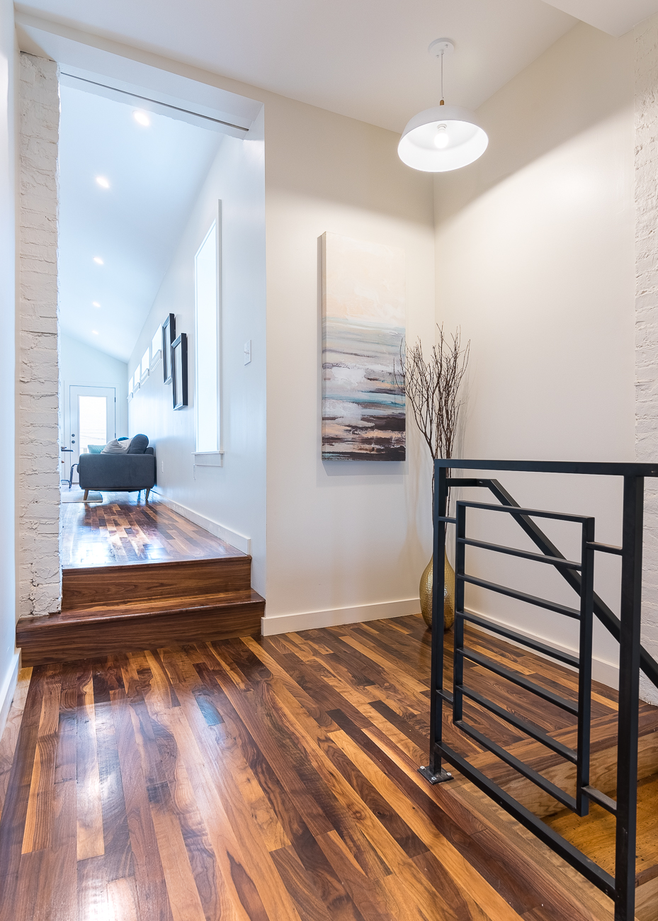 1430 Main Street in Over-the-Rhine is a 2,100-square-foot, single-family home with 2 bedrooms, 2.5 bathrooms, a private deck, a dedicated parking spot, gourmet kitchen, and three floors of living space. It is listed for $535,000. / Image: Phil Armstrong, Cincinnati Refined // Published: 8.25.18