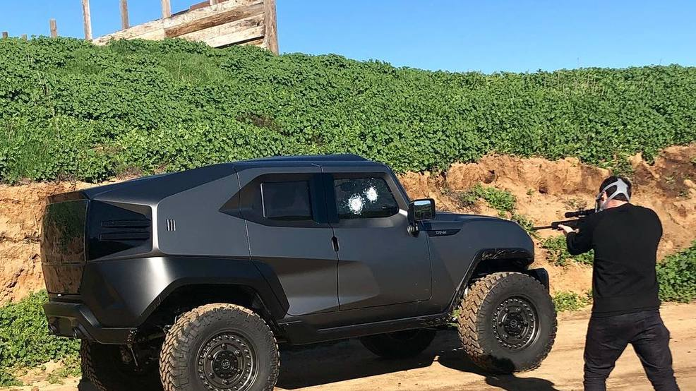 Street-legal SUV can withstand bullet, has smoke screen