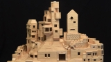 Artist builds city structures with over 300,000 toothpicks