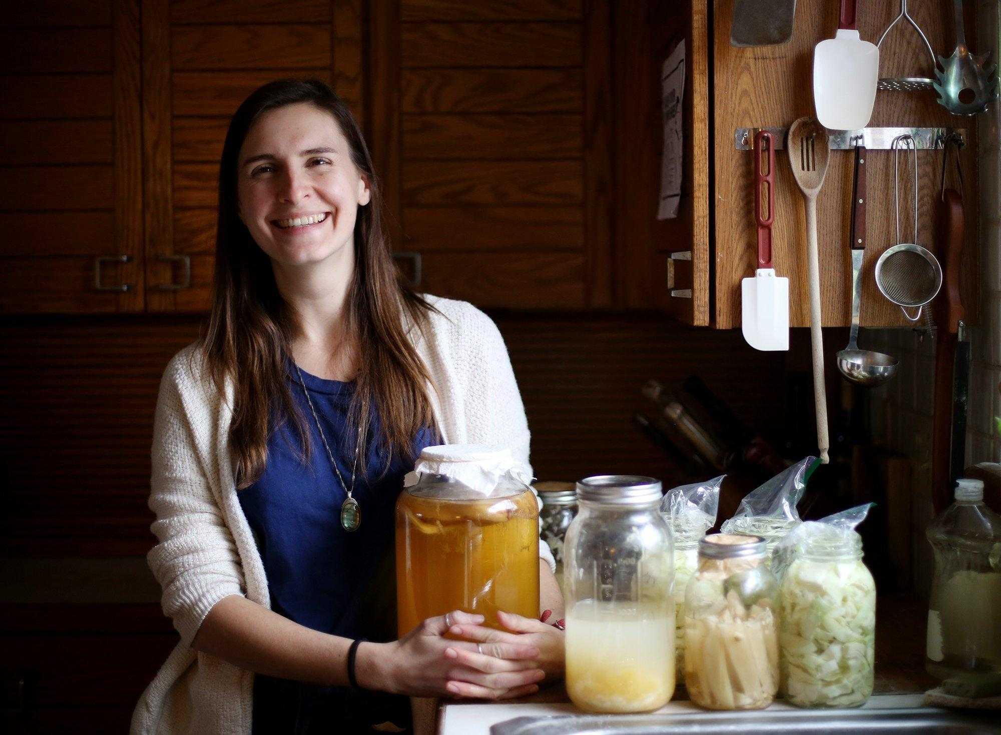 Aniko Zala, a fan of fermented food, owns Wild Origins, a local herbalist business. [Courtney Hergesheimer/The columbus, ohio, dispatch]