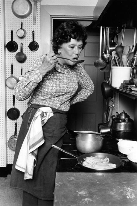 Julia Child revolutionized home cooking with her tips, techniques and easy way of talking to the television audience like they were good friends.{ } Her life is being celebrated through a very special performance on stage at The Rendezvous in Seattle called Bon Appétit: The Julia Child Show. (Credit:{ } ©Lynn Gilbert, 1978){ }