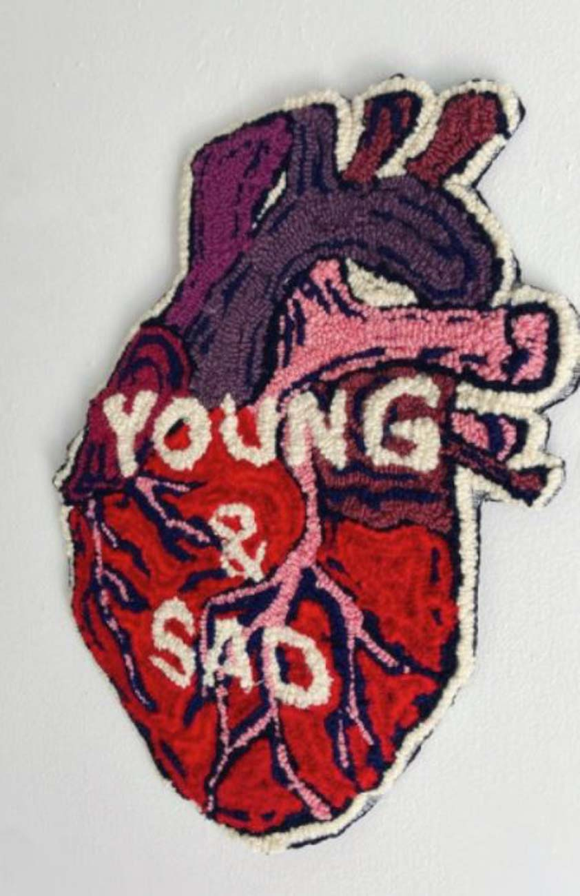 """Young and Sad""{ }/ Image courtesy of Genevieve Lavalle of BlackOlive Art // Published: 12.26."