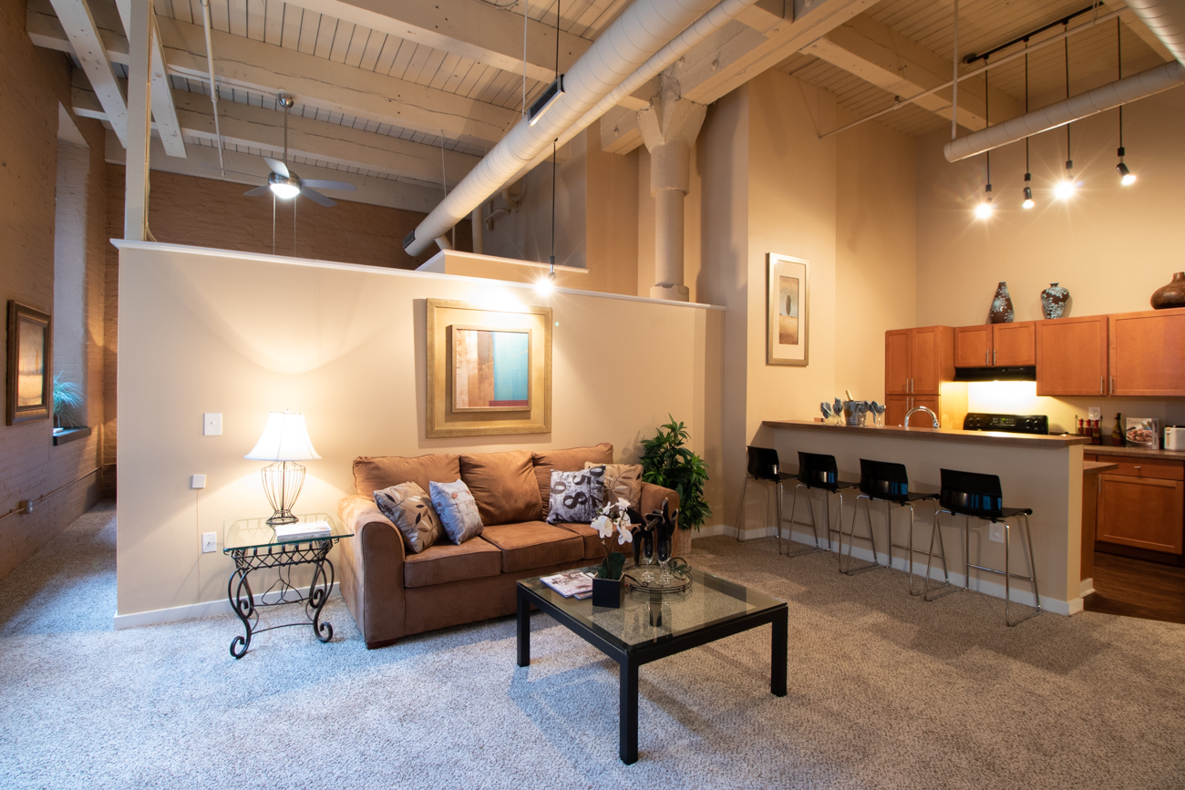Former factory floors and offices have been converted to upscale living spaces. The building was built in 1888 and renovated between 2000 & 2002. No two apartments are the same.{ }/ Image: Ronny Salerno // Published: 2.6.19