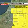 TORNADO WATCH in effect for part of the area