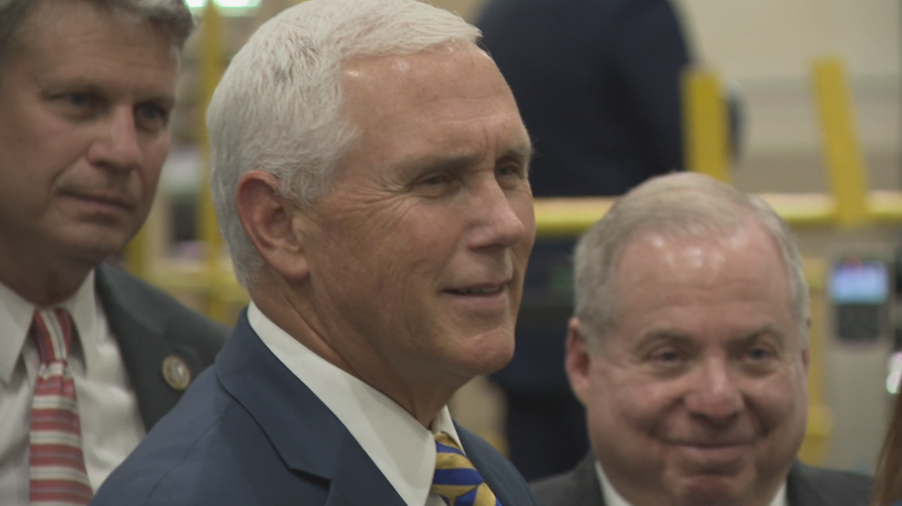 Vice President Mike Pence during tour of Mill Steel in Grand Rapids.PNG