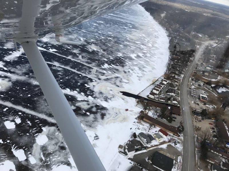 Sheriff warns of pressure cracks on Houghton Lake before Tip-Up-Town. Photo Courtesy: Roscommon County Sheriff's Office<p></p>