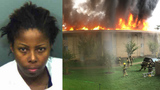 Woman accused of starting massive apartment fire because she was angry with boyfriend