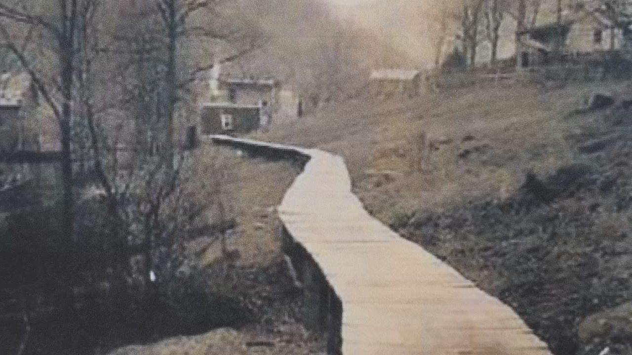 The original Lover's Lane boardwalk kept travelers out of the mud. (Courtesy Dr. David Gillespie)