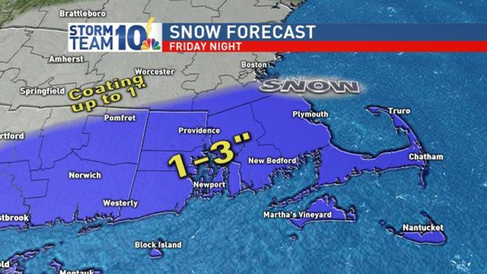 Snow could impact Friday evening commute