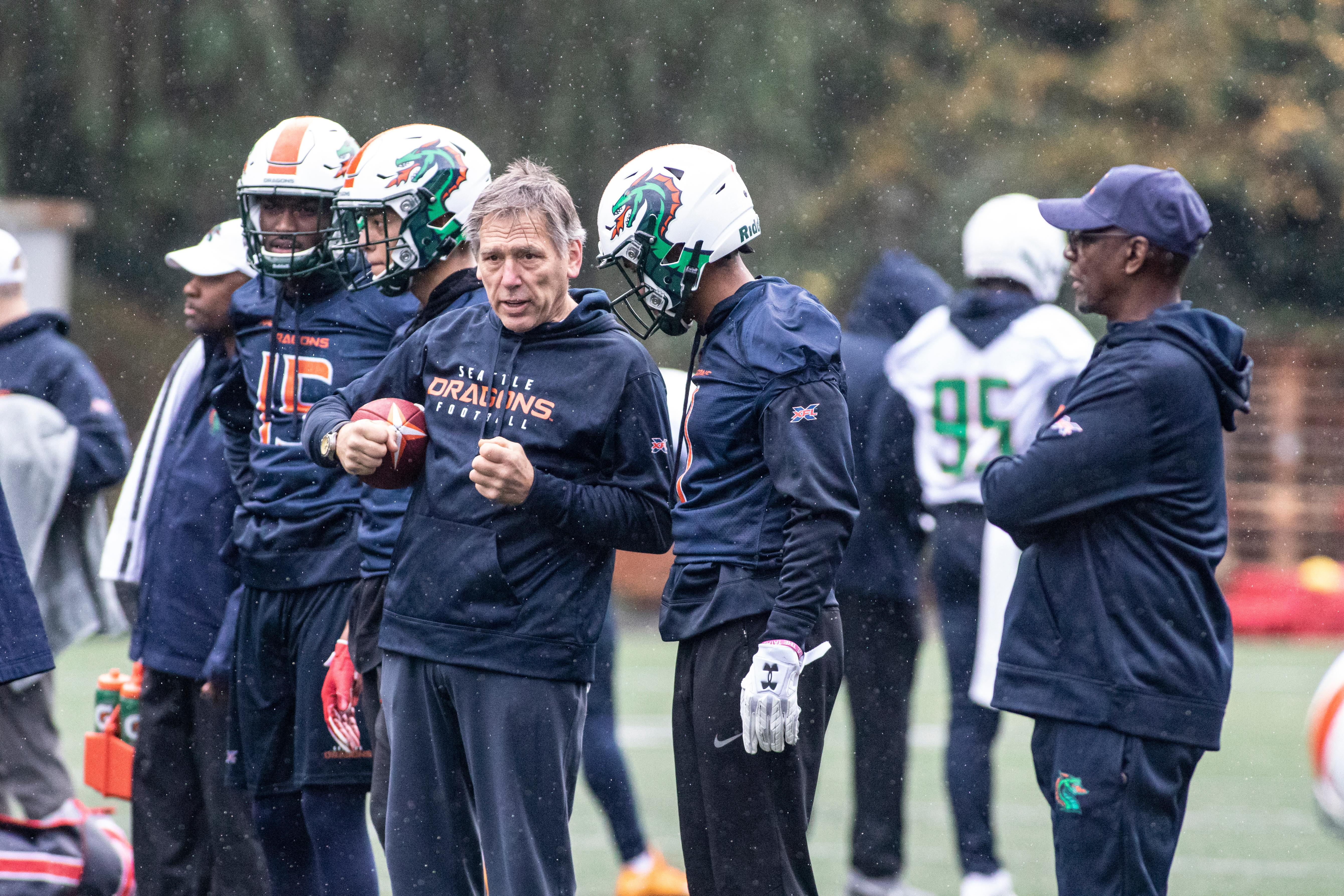 The XFL is back, as Jim Zorn leads the Seattle Dragons on their 10-game schedule in the 2020 season.