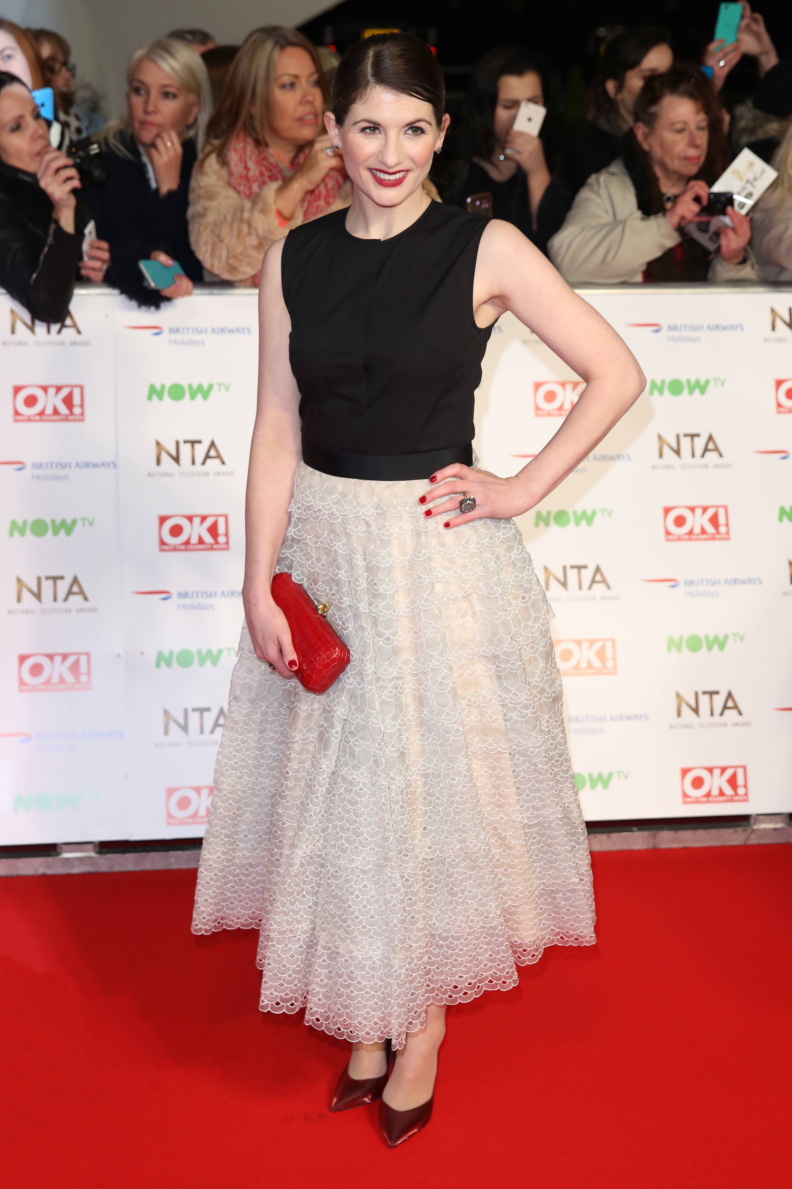 The National Television Awards 2016 (NTA's) held at the O2 Arena - Arrivals                                    Featuring: Jodie Whittaker                  Where: London, United Kingdom                  When: 21 Jan 2016                  Credit: Lia Toby/WENN.com