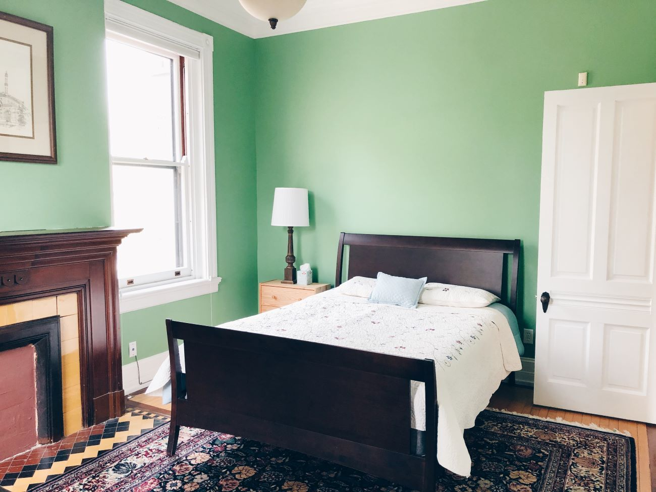 2321 Upland Place, Unit 2 (45206) is a condo in East Walnut Hills that encompasses the entire second floor of a 19th Century home. The two-bed, two-bath unit features over 1,900-square feet of interior livable area that's adorned with stained glass windows, 11-ft ceilings, and maple and Brazilian mahogany floors throughout. / Image courtesy of Linda Manning // Published: 1.12.21