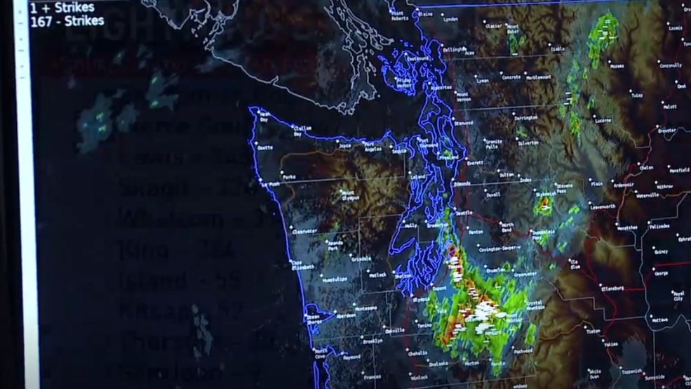 Exceptionally rare' lightning storm stuns Puget Sound