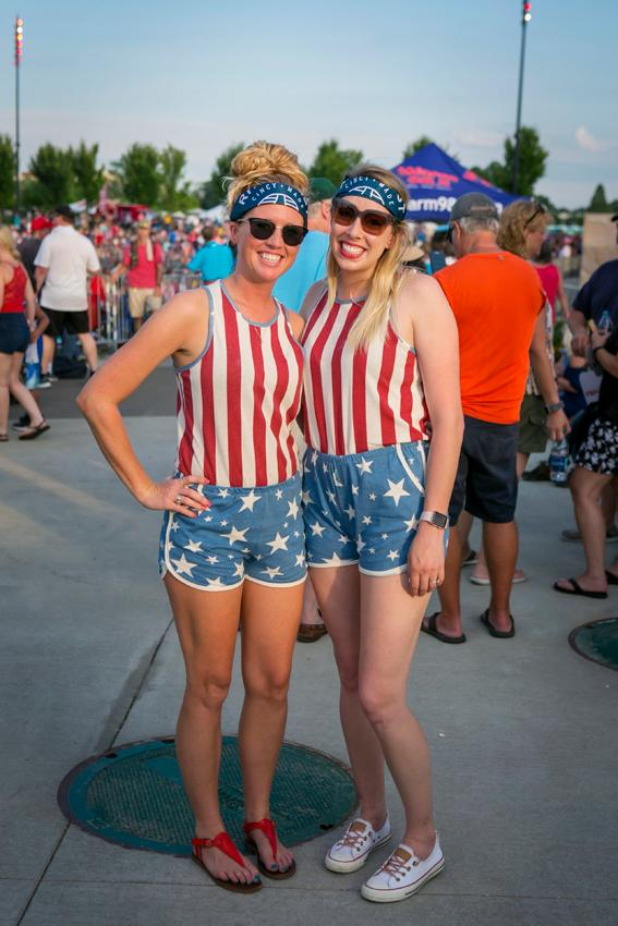 Pictured: Meredith McCullough and Megan Call / Event: Red, White, & Blue Ash (7.4.18) / Image: Mike Bresnen Photography // Published: 8.2.18