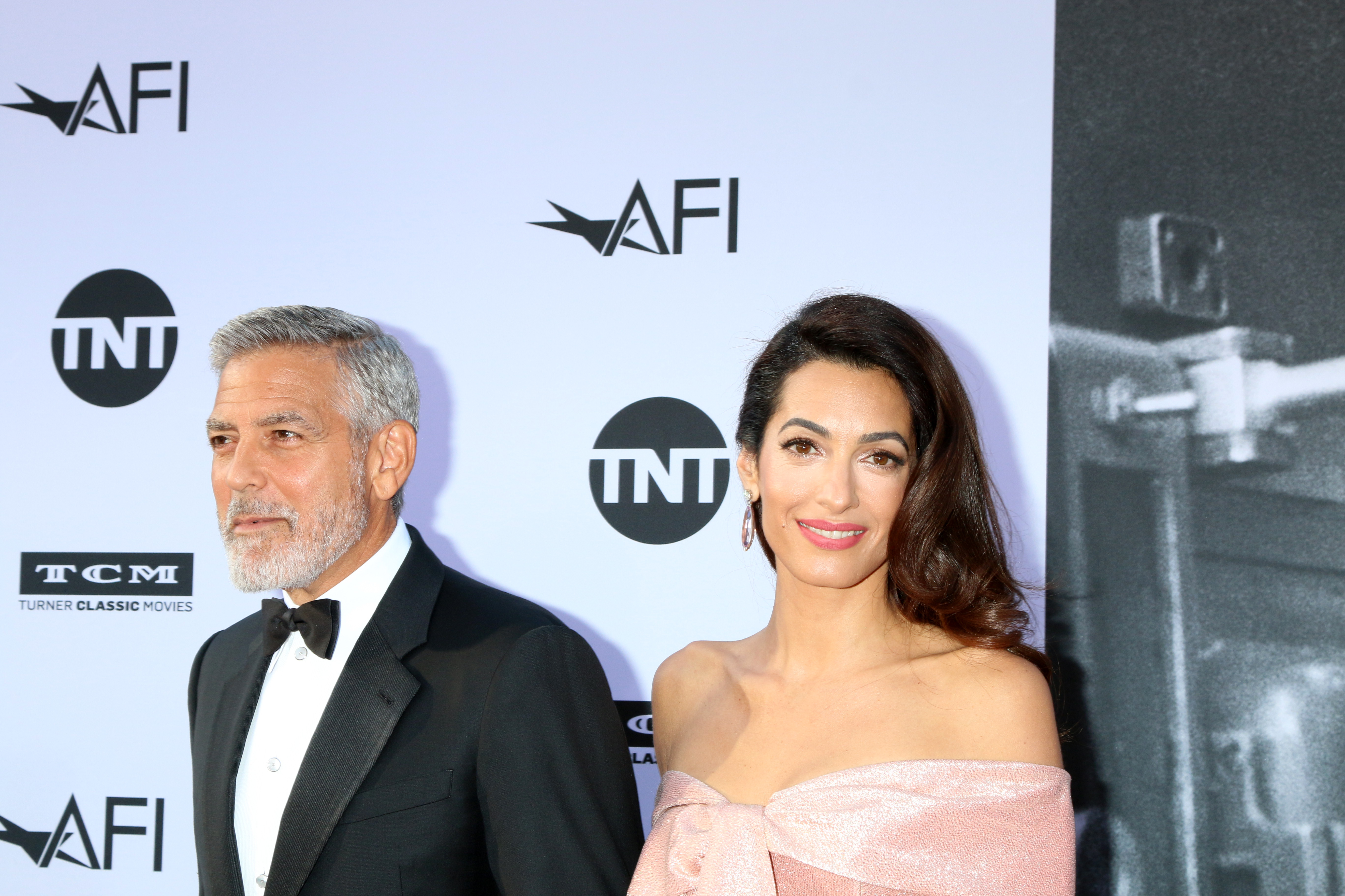 George Clooney and Amal Clooney at the 46th AFI Life Achievement Awards in Los Angeles, California on June 8, 2018. (Nicky Nelson/WENN.com)