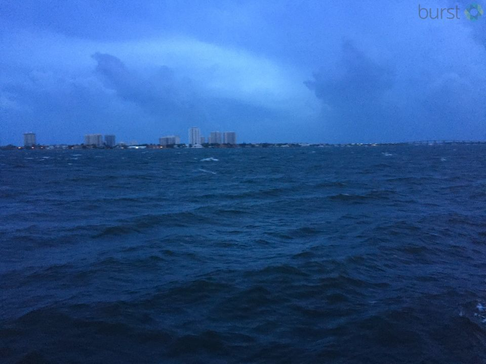 Rising water before the hurricane makes landfall in West Palm Beach, FL (Photo submitted via Burst)