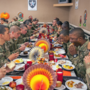 Fort Leonard Wood Soldiers enjoy Thanksgiving lunch