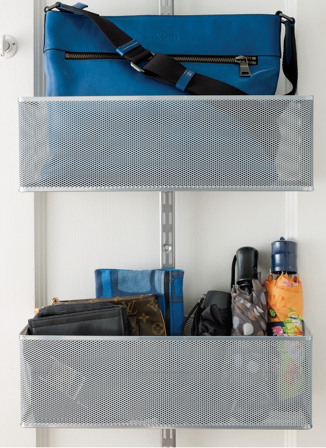 Use over the door storage (Photo: The Container Store)