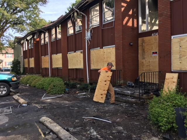 Firefighters saved a large part of the building, but the apartments are uninhabitable. The cause of the fire is still under investigation. (Photo credit: WLOS staff)