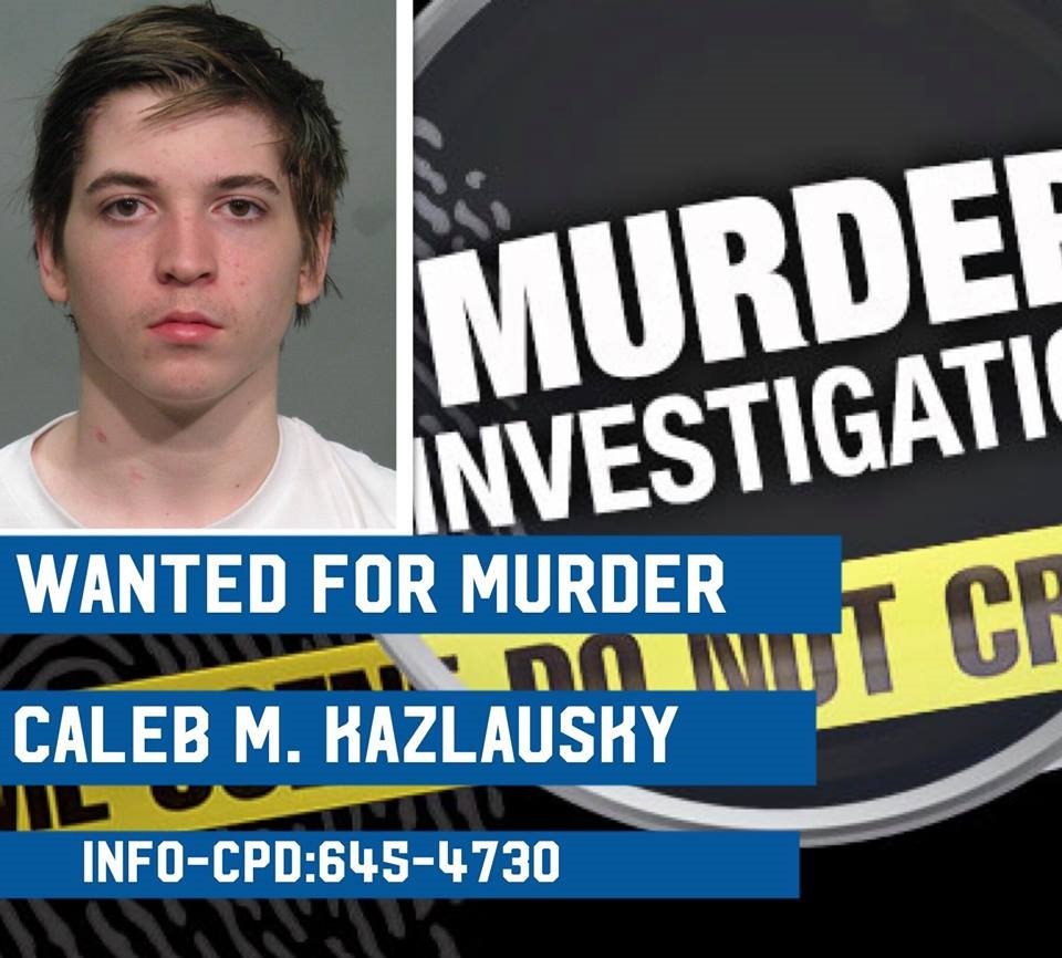Caleb Kazlausky, 20, is wanted for the murder of Chad Dunlap early Tuesday morning. Police say he should be considered armed and dangerous (Courtesy: Columbus Police)