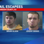 Deputies searching for two inmates accused of escaping from work detail