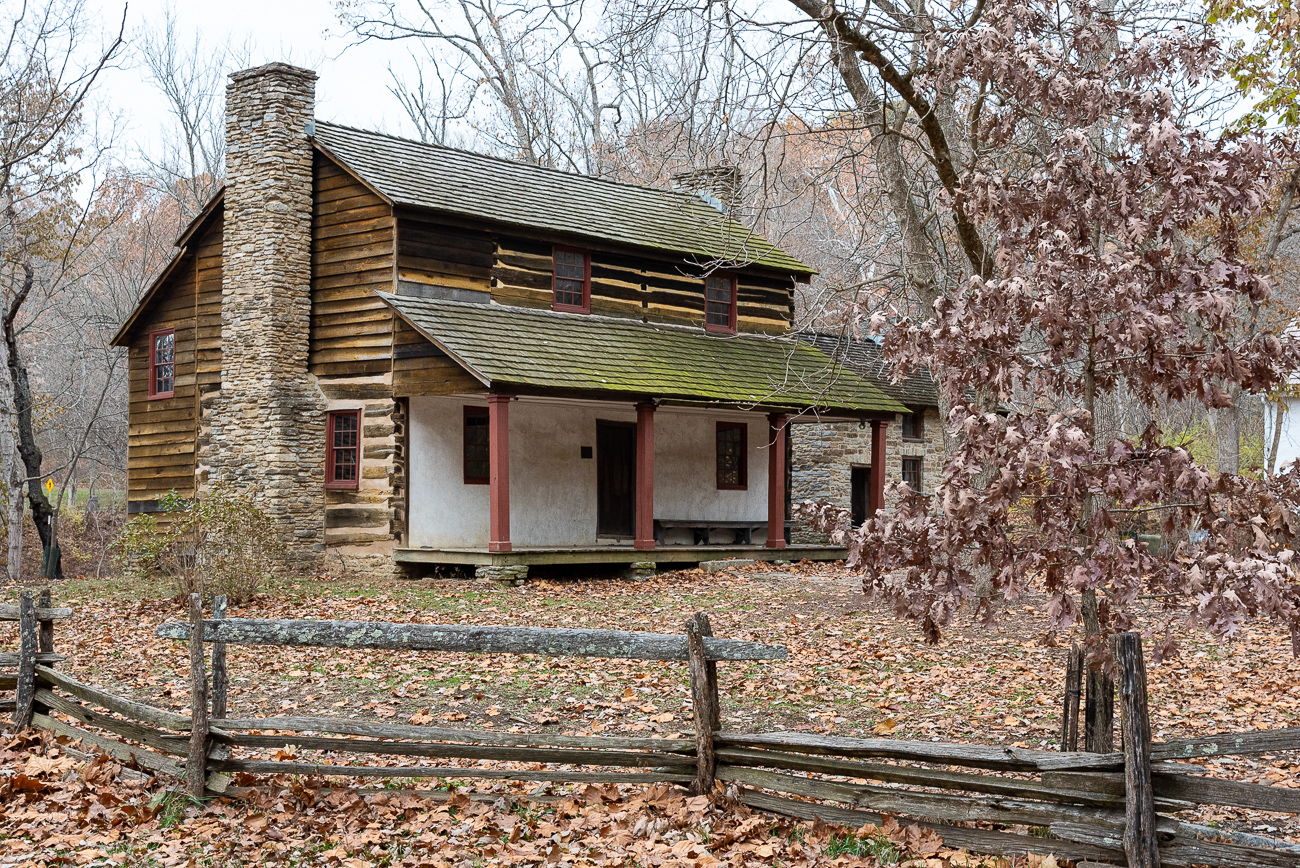 The Kemper Log House is one of the oldest structures in Cincinnati. Originally built in 1804 in Walnut Hills, it was home to Presbyterian minister Reverend James Kemper and his family. It was disassembled and moved to the Cincinnati Zoo in 1912, was included in the Historic American Buildings Survey in 1936, and made the National Register of Historic Places by 1975. It was moved again to the Heritage Village Museum in subsequent years.{ }/ Image: Phil Armstrong, Cincinnati Refined // Published: 12.5.19