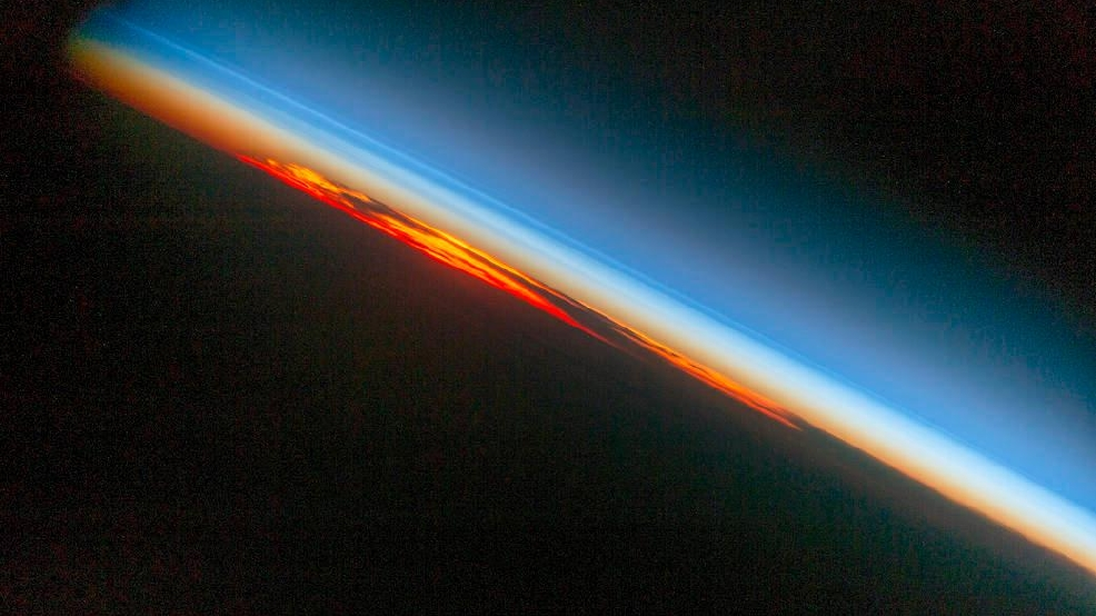 Astronauts get close up photo of sunset as seen from space