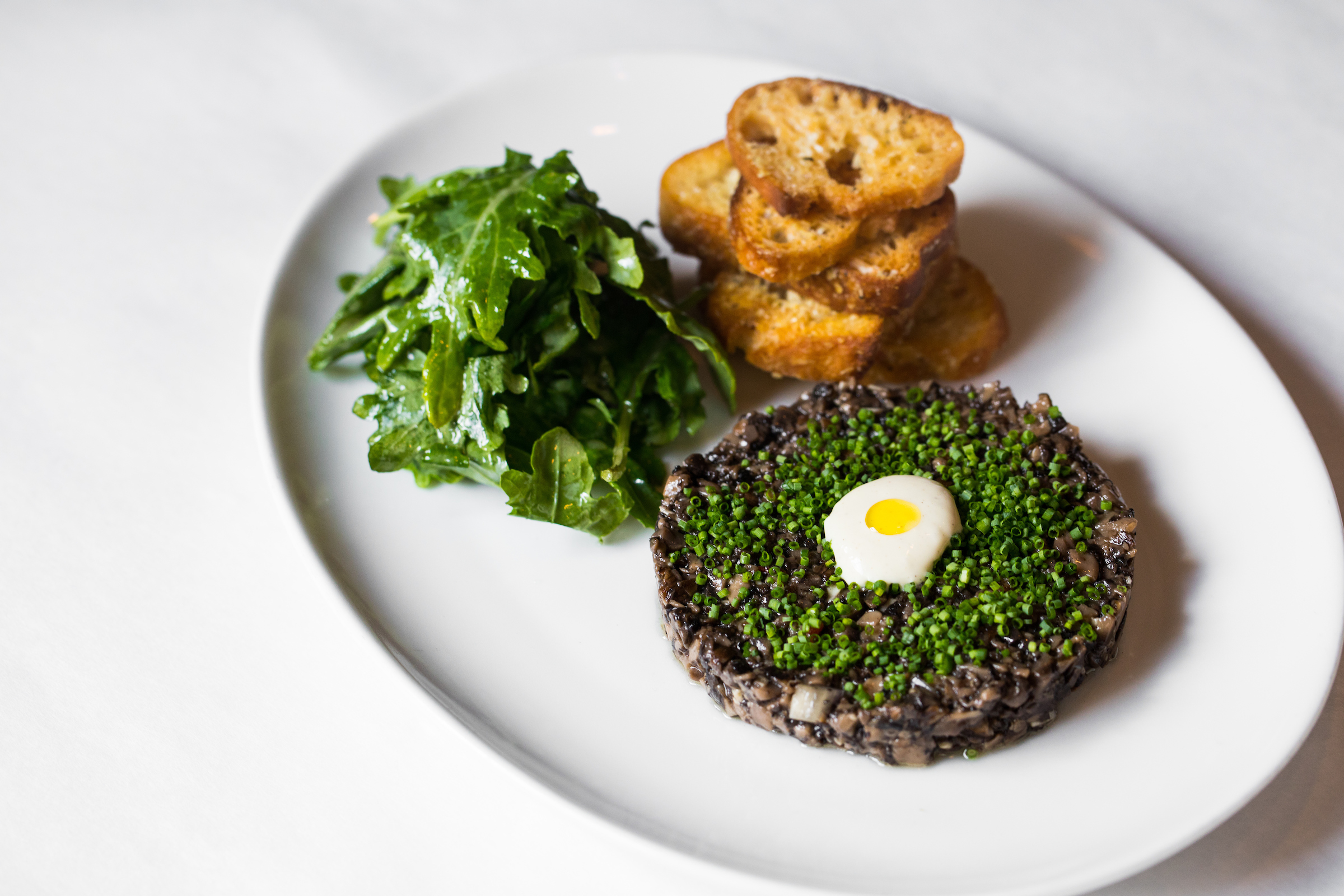 Mushroom Tartare at Mon Ami Gabi (Photo credit: Christina Slaton)<p></p>