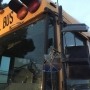 School bus stuck in power lines, children safe