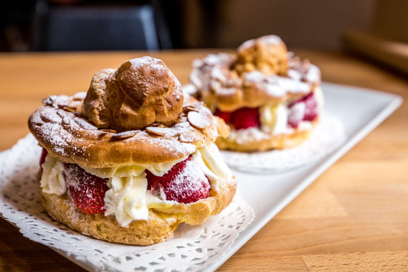 Strawberry cream puffs / Image: Catherine Viox{ }// Published: 8.5.19