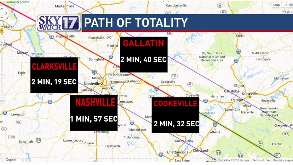 Tennessee Kentucky Will Be Front Row For The Total Solar Eclipse Wztv