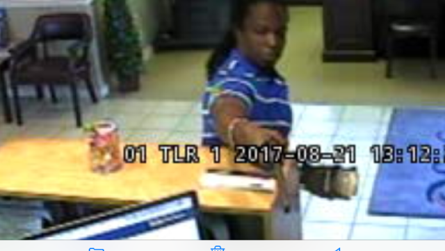 A suspect in the Monday afternoon bank robbery in Conway. (Conway police)