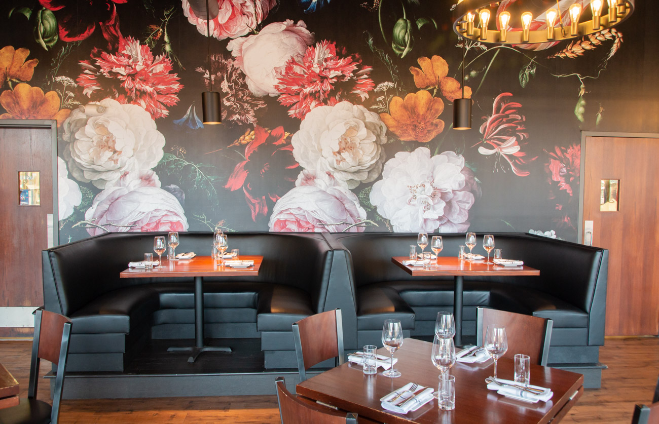 "<p>Ranalli says the decor also gives a nod to the restaurant's original location. ""We had very bold wallpaper that we were known for so we wanted to replicate that as our signature [but] I wanted to make it a little more feminine and artistic,"" says Ranalli. / Image: Elizabeth A. Lowry // Published: 1.13.19</p>"