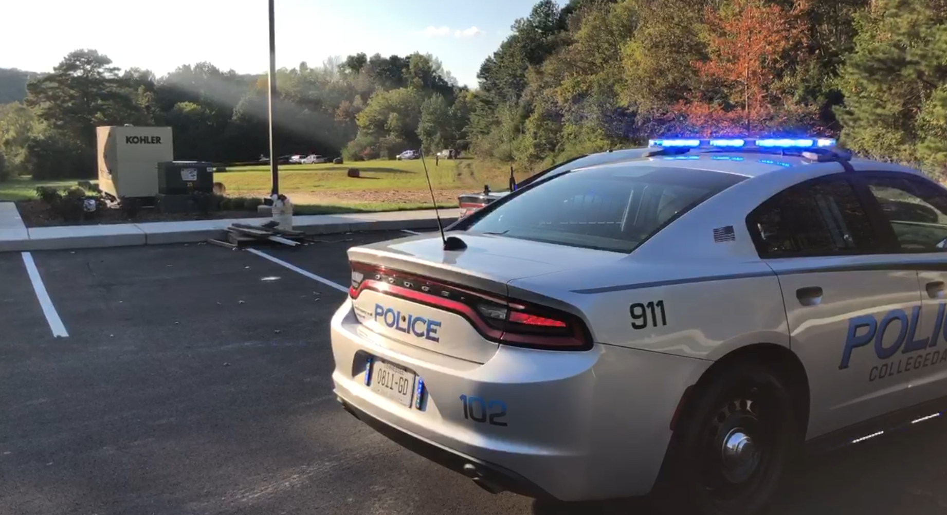 Plane crashes near Collegedale airport 10.12.2020. (Image: WTVC)