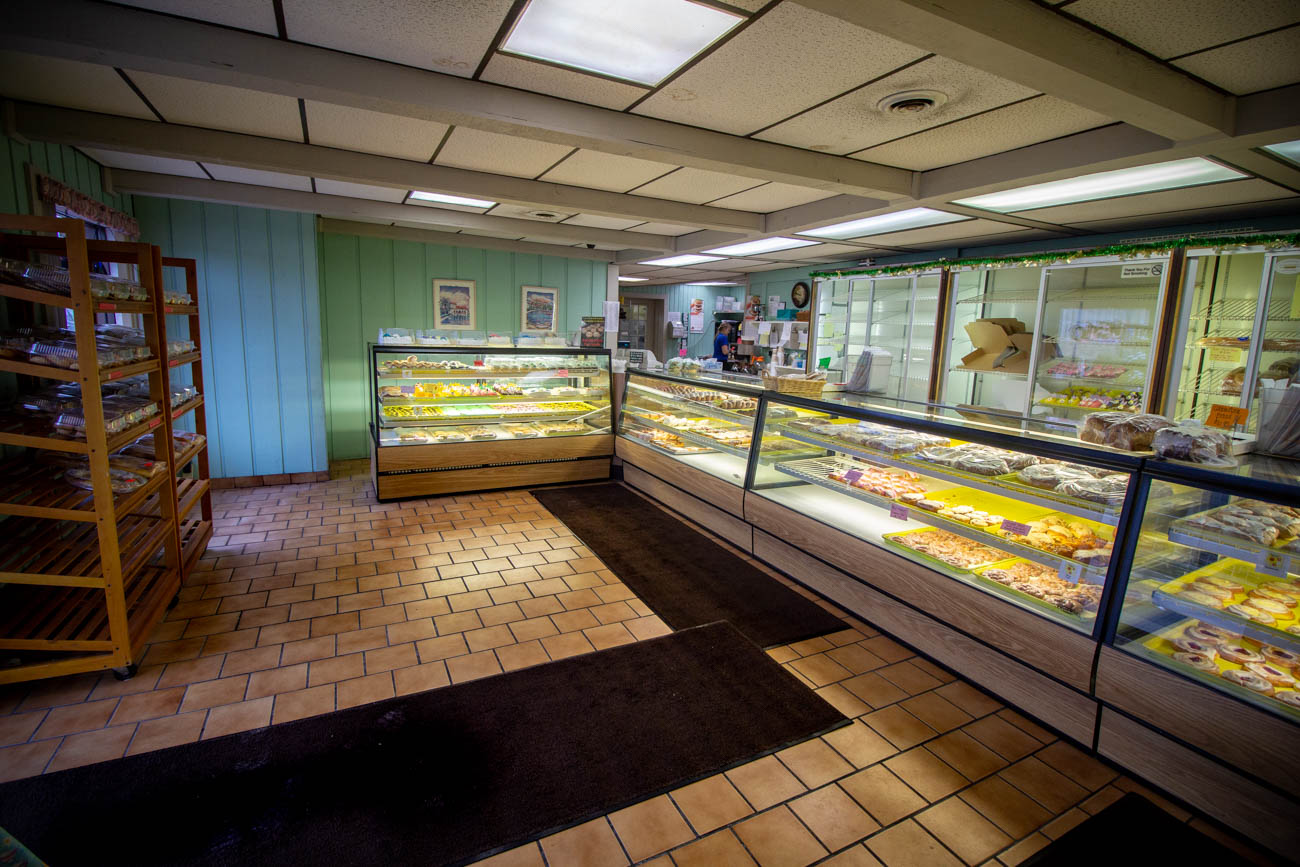 The Florence location's renovation consisted of Cecil and his brother, Jerry Emerson, knocking down walls and laying the same floor that you'll see there today. The Emersons also expanded the bakery into a neighboring business at one point to increase the space. / Image: Katie Robinson, Cincinnati Refined // Published: 3.14.20