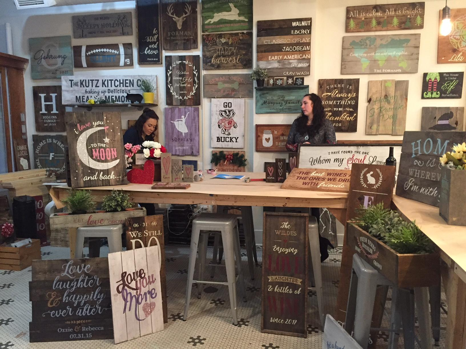 Our Lauren Kalil joined us live to preview DIY crafty events at Board and Brush in Green Bay, January 27, 2018, (WLUK/Lauren Kalil)<p></p>
