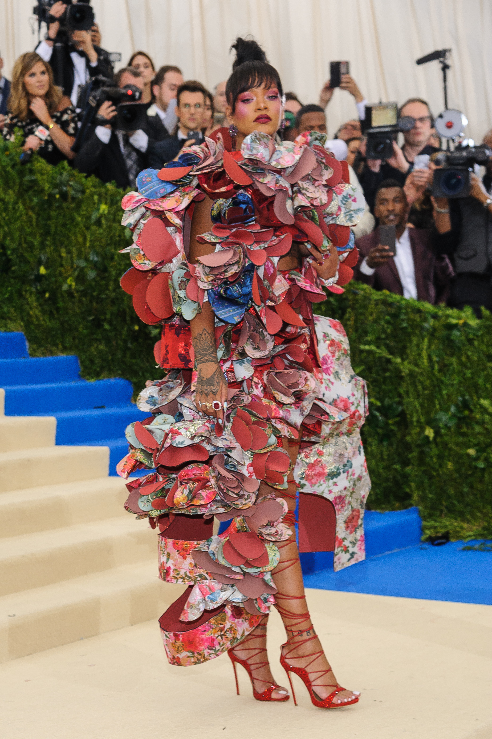 Metropolitan Costume Institute Benefit Gala: Rei Kawakubo/Comme des Garçons: Art of the In-Between at the Metropolitan Museum of Art  Featuring: Rihanna Where: New York, New York, United States When: 02 May 2017 Credit: WENN.com