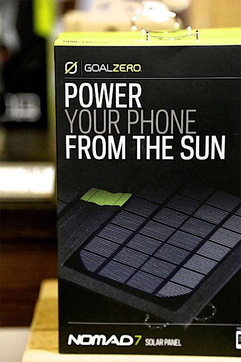 If you are bringing your beloved devices camping, a solar power charger is a must. This solar panel is small and easy to pack - all you need is sunshine! (Image: Kristi Waite/Seattle Refined)