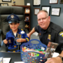 First Grader drops off candy for his hero Toledo Police Chief Kral