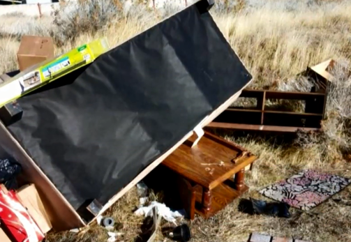 Caught on camera: Man arrested after illegally dumping trash in Reno neighborhood