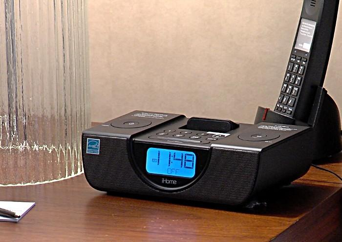 A iHome dock inside a room at the new Westin Hotel in downtown Birmingham, Alabama.