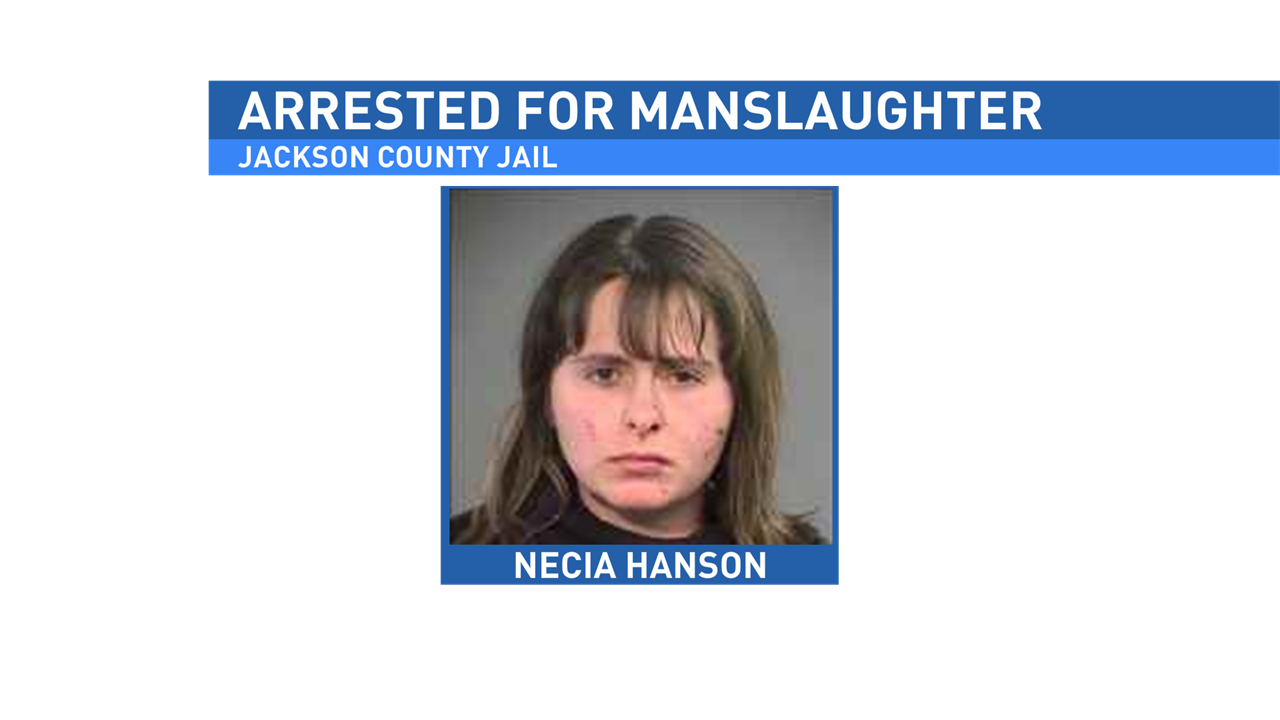 Necia Marie Hanson faces manslaughter and drunk driving charges.
