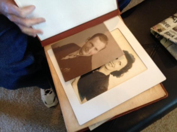 Robert Wilfong with his recently recovered photo album