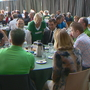 Fan gives Rodgers a kiss at Welcome Back Packers luncheon