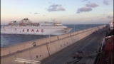 Ferry slams into breakwater in Canary Islands, 13 injured