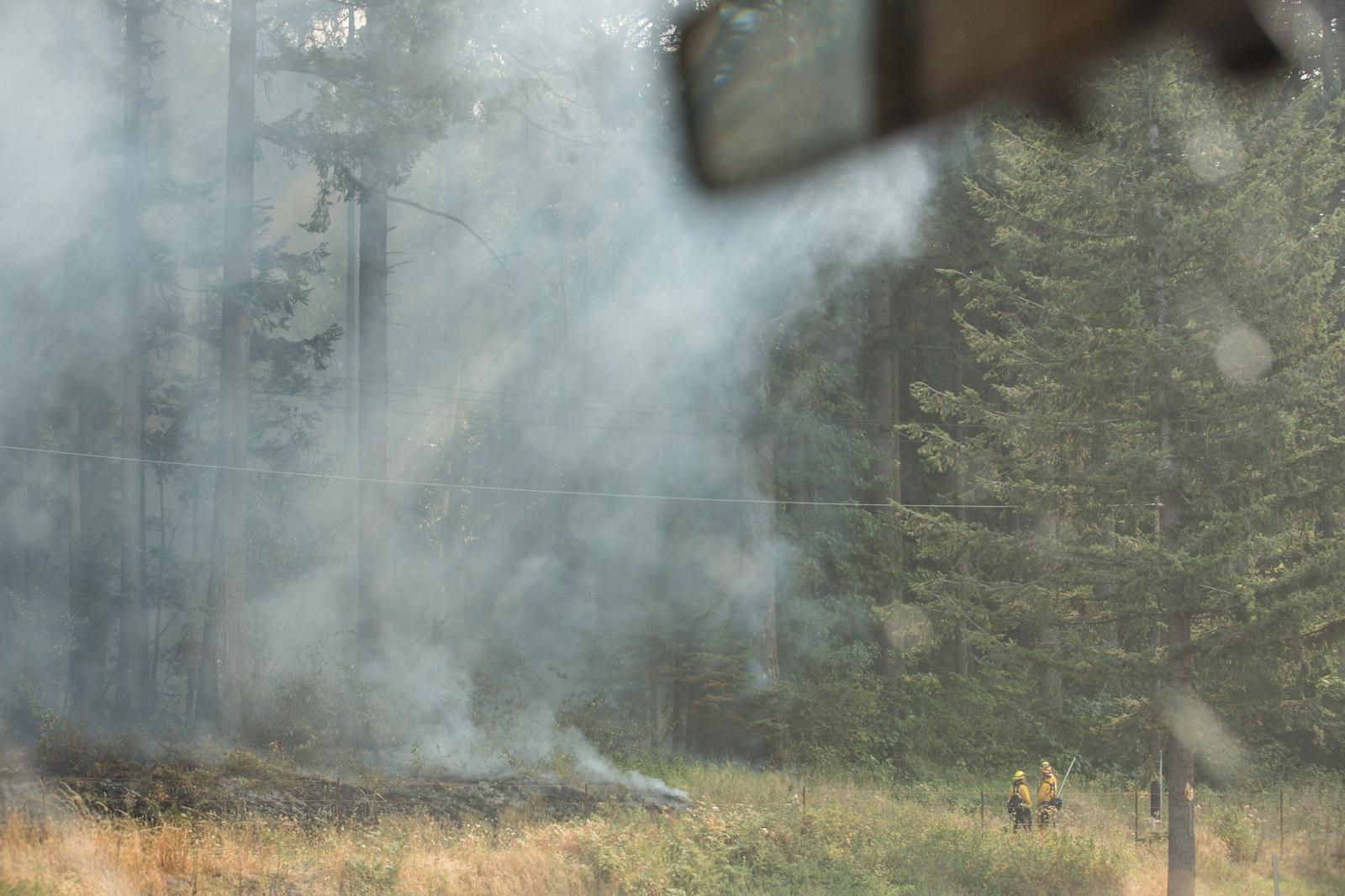 More than 900 firefighters are working to contain the Eagle Creek Fire in the Columbia River Gorge. Other local officials are working to keep pets safe and inform the public. Photo courtesy Multnomah County Communications