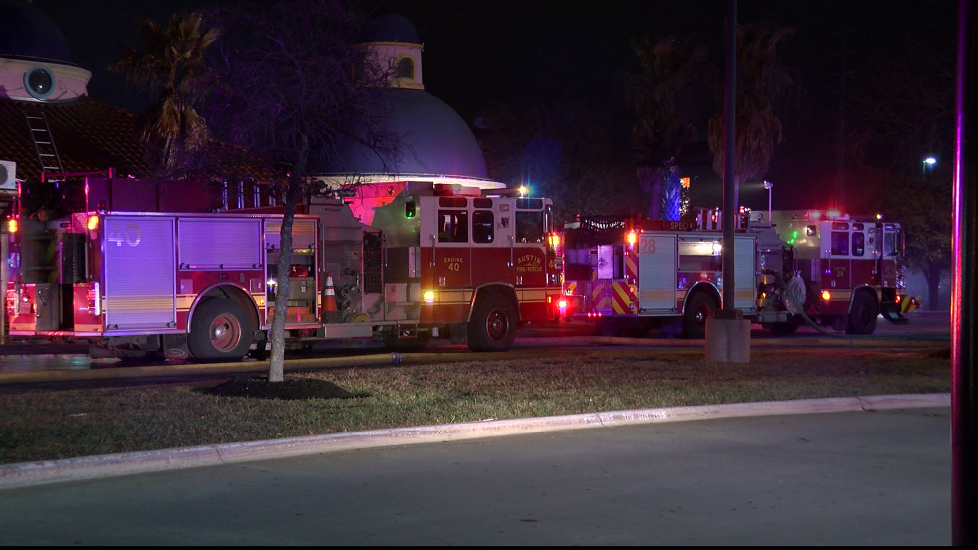 A fire damaged Baby A's in North Austin early Wednesday morning. (CBS Austin)