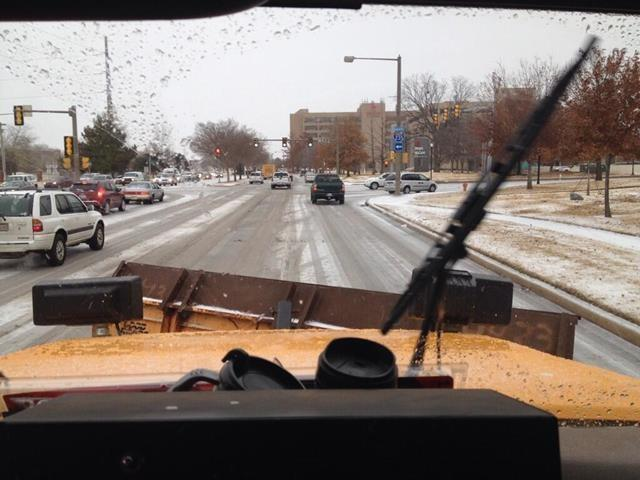 FOX 25's Rebecca Schleicher is going for a ride in a salt truck as crews work to clear the roadways